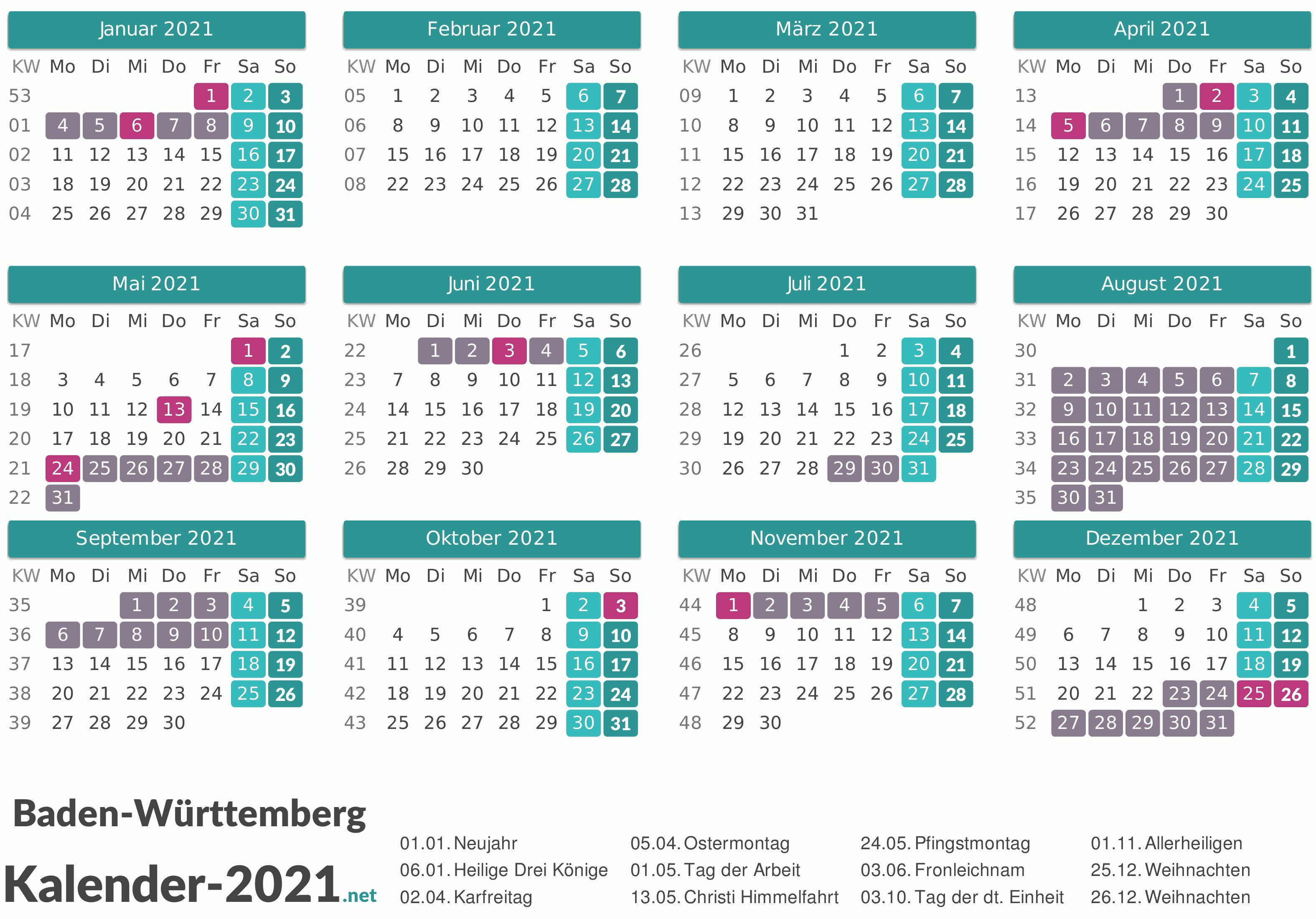 Zusätzlicher Feiertag 2021 Bw