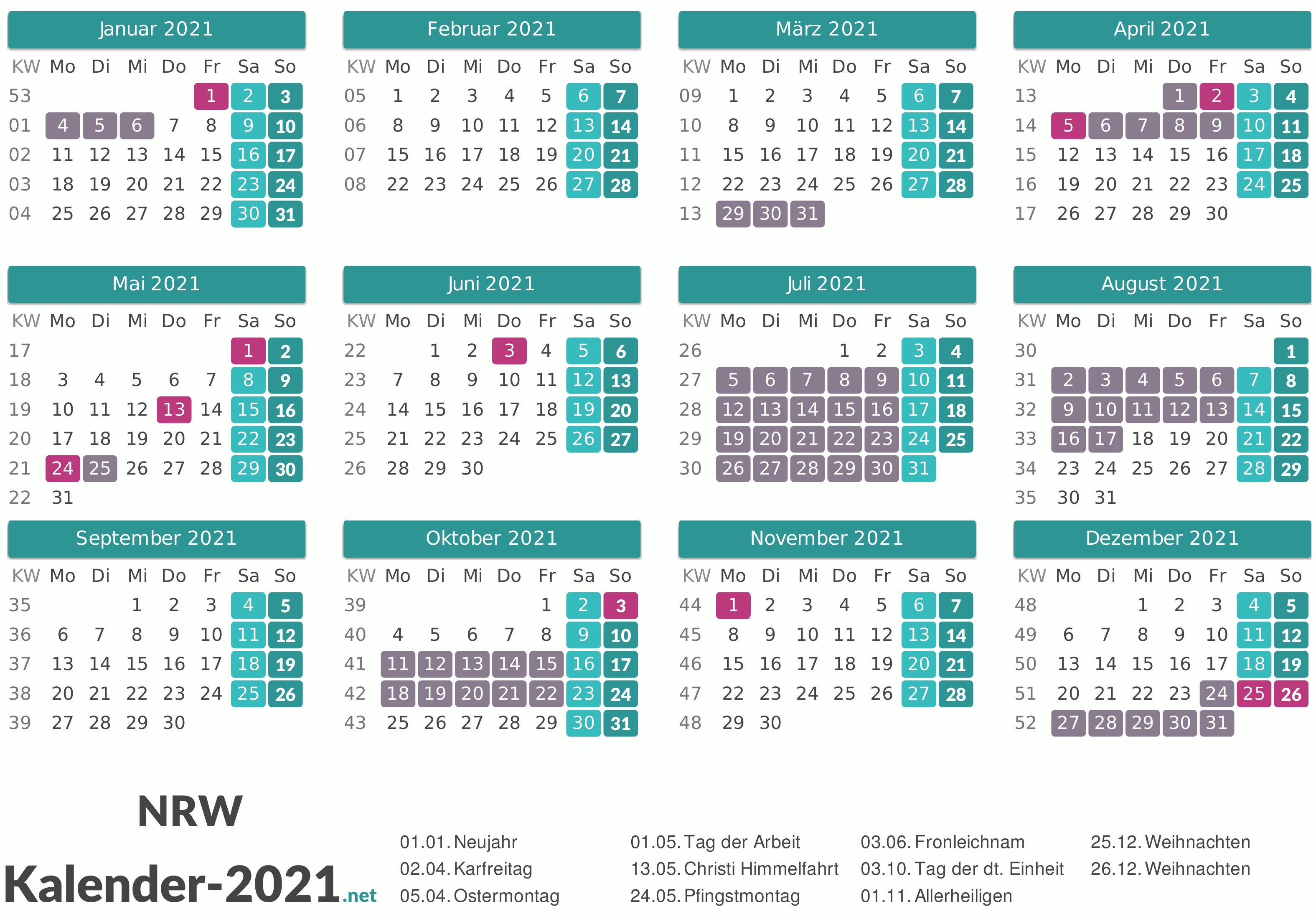 Ferien Nrw Winter 2021